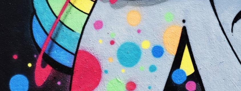 Farbenfrohes Graffiti