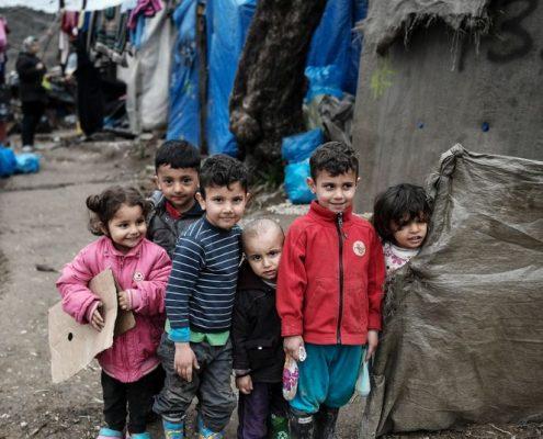 Kinder im Flüchtlingslager Moria
